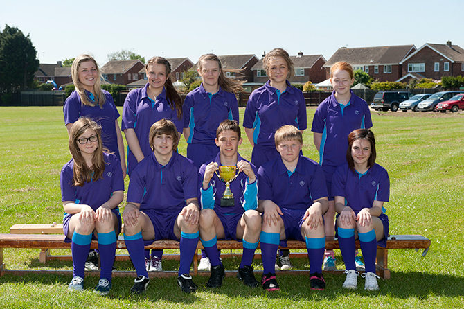 Image showing what the Cleethorpes Academy Sports Uniform looks like